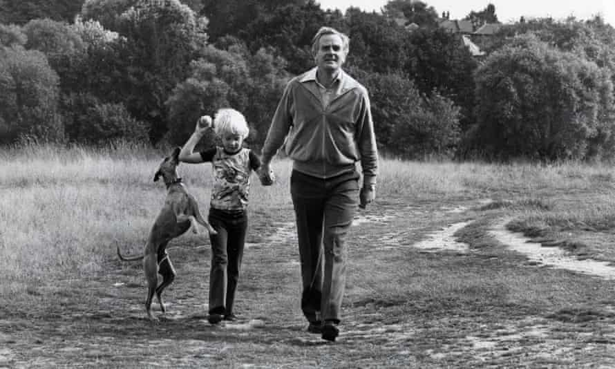 John le Carré on Hampstead Heath with his son Nicholas.