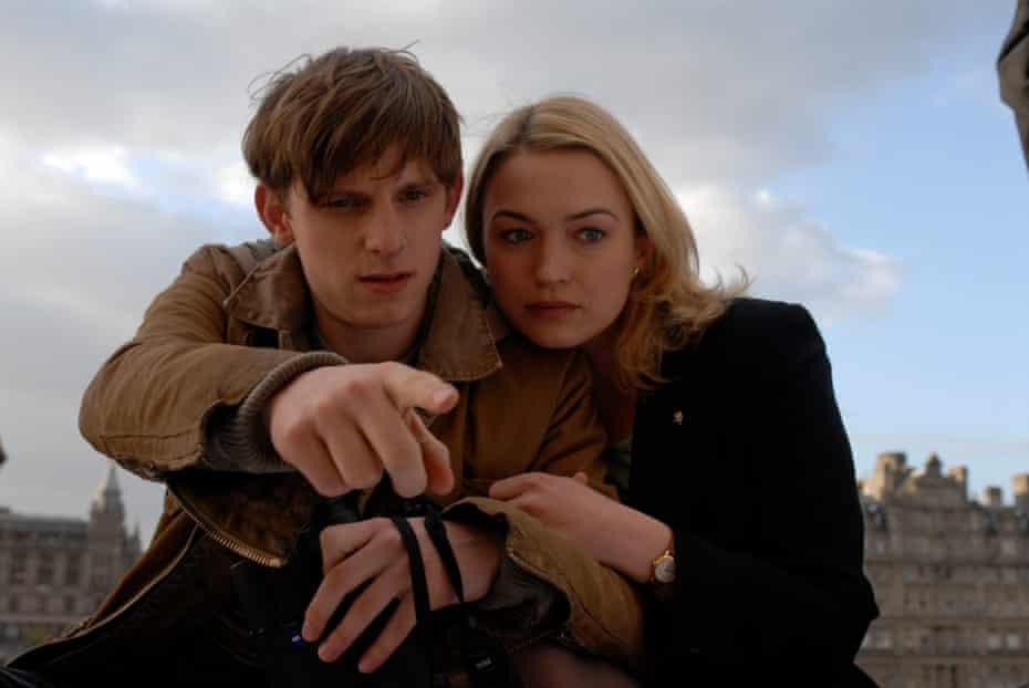 Jamie Bell and Sophia Myles in Hallam Foe.