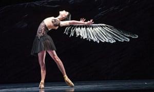 Wings of desire … Sarah Lamb craves transformation as the heroine in Wayne McGregor's Raven Girl (2013) at the Royal Ballet.