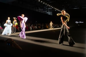 Madrid, SpainModels on the runway for the Maya Hansen show during Madrid fashion week