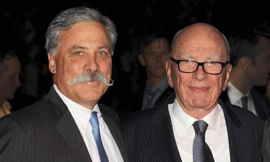 Rupert Murdoch with Chase Carey who will stand down from the business.