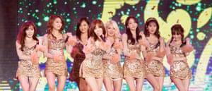 Girls' Generation performing in 2016.