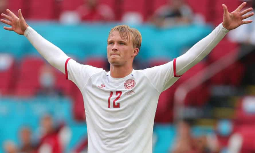Kasper Dolberg scored twice on his first start at Euro 2020 to set up Denmark's 4-0 win over Wales.