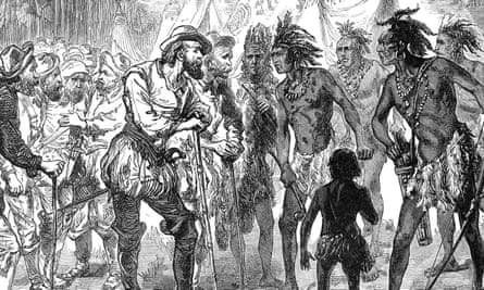 A 19th century engraving depicts Spanish exploration in the West Indies. 'It's up to us to tell their story,' researchers say of the Caribs.