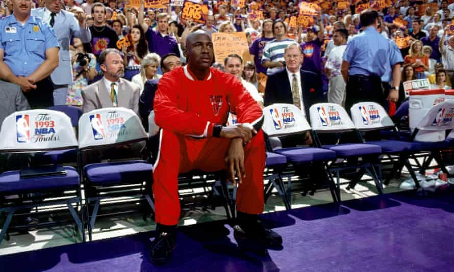 'Superheroes have to look the part ...' Michael Jordan courtside in 1993.