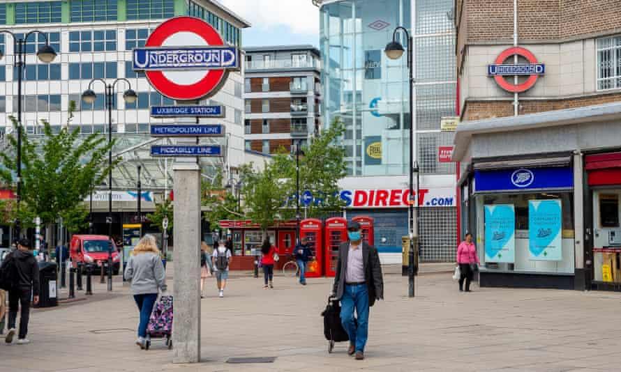 Uxbridge tube station.