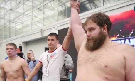 'A show, not a sport': Russian face-slapping champion becomes YouTube star