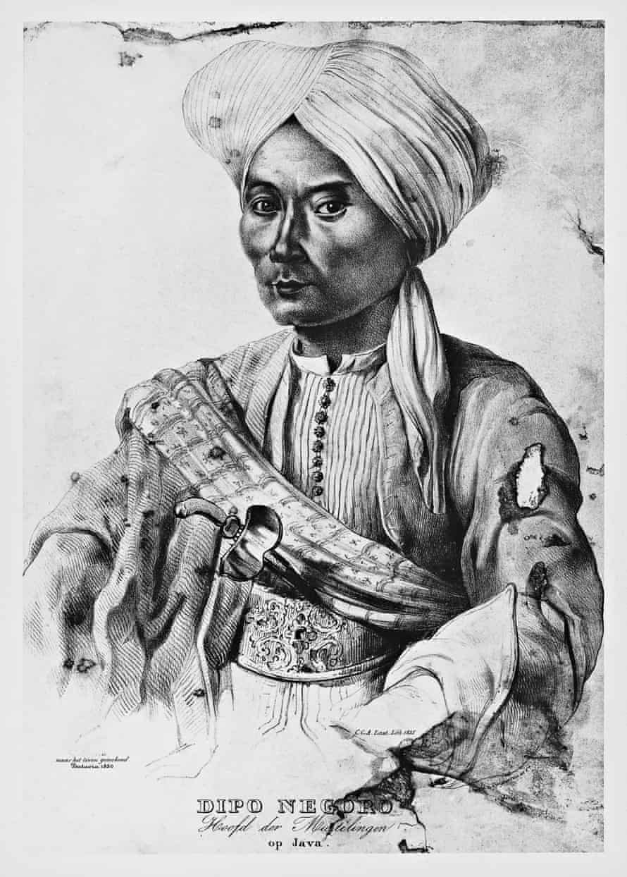 A drawing of the Javanese prince Diponegoro