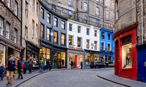 Victoria Street and West Bow in Edinburgh.