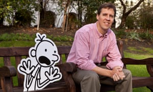 Jeff Kinney and his character Greg Heffley from the Diary of a Wimpy Kid books.