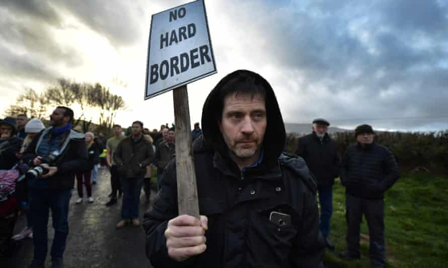 The Border Communities Against Brexit protest on 26 January in Louth, Ireland