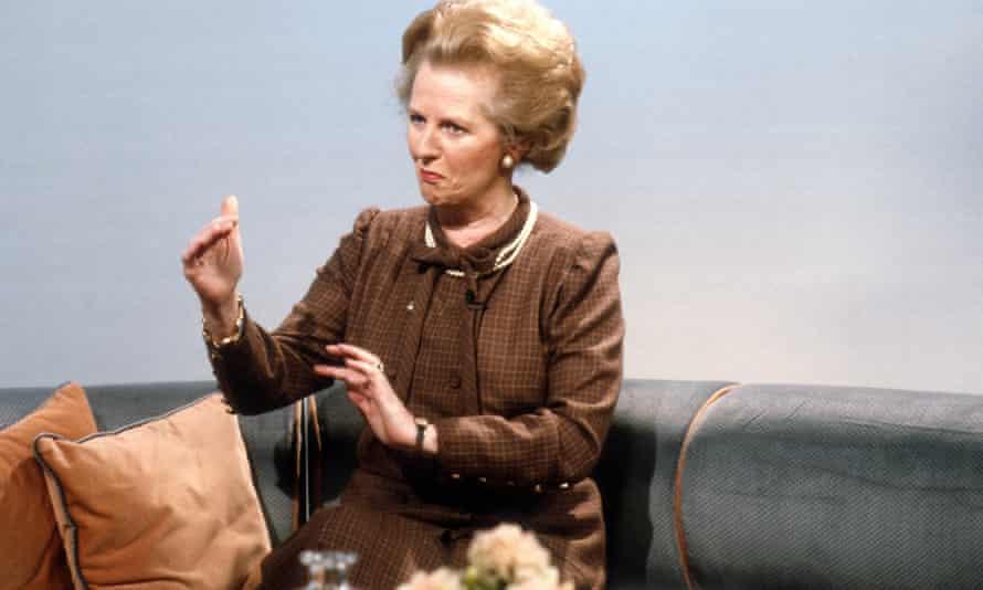 Big presence … Margaret Thatcher.