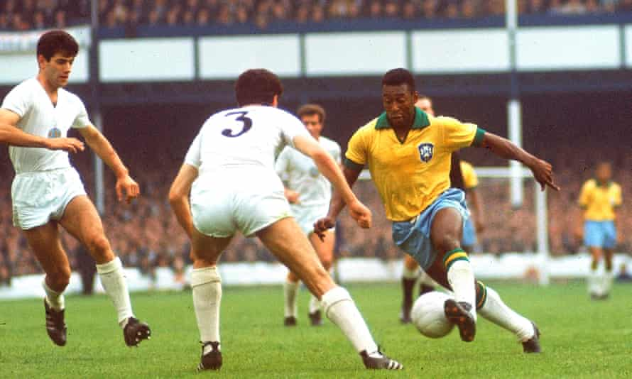 Pelé, pictured against Bulgaria at the 1966 World Cup, moved as if running through a different kind of air.