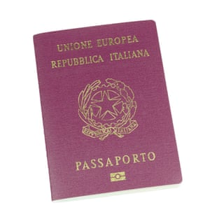 An Italian passport