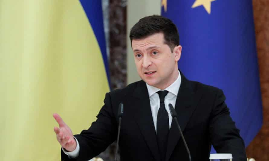Volodymyr Zelenskiy, president of Ukraine.