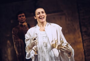 Fiona Shaw in the role of Richard II at the National, directed by Deborah Warner in 1995