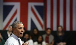 US president Barack Obama was in London in April.