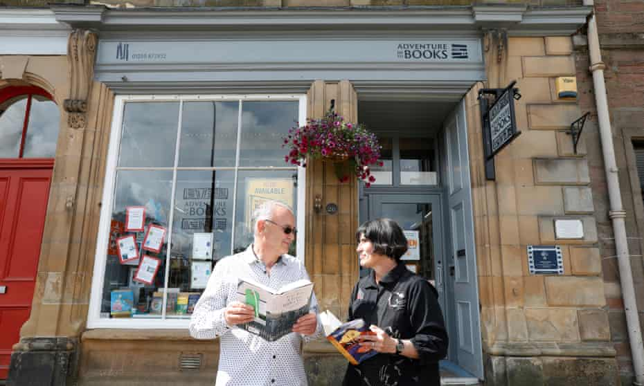 'We didn't plan on the pandemic': Ralph Baillie and Kate Davies outside their bookshop in Blairgowrie, Perthshire.