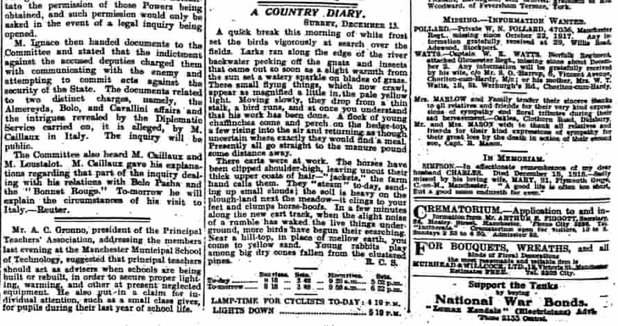 The Manchester Guardian, 15 December 1917.