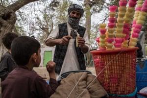 Children enjoy picnics and ice-cream during Nowruz celebrations
