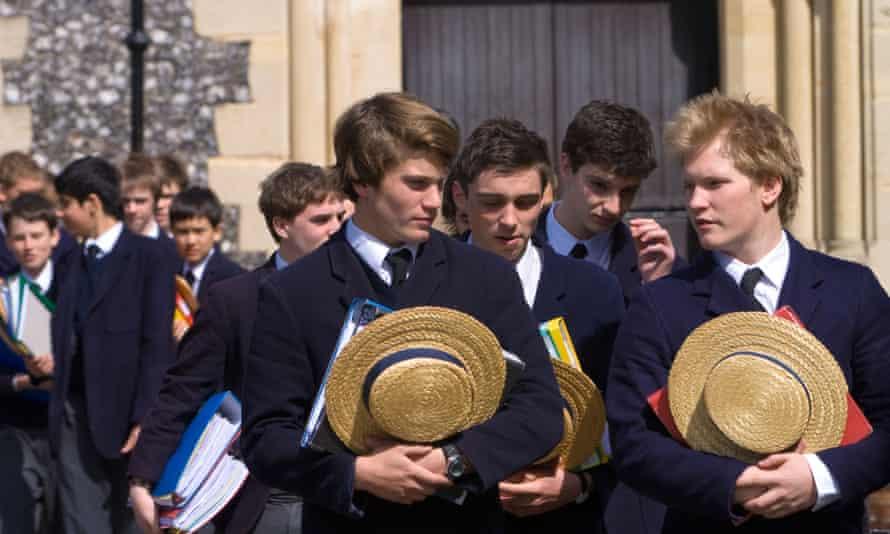 pupils at Harrow school.
