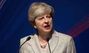 Theresa May delivers a speech