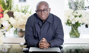 """""""Edward Enninful on his first day in his office at Vogue."""""""