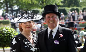 Sir Terry Wogan with his wife, Helen, as Royal Ascot in 2014.