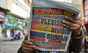 Colombia referendum newspaper headline