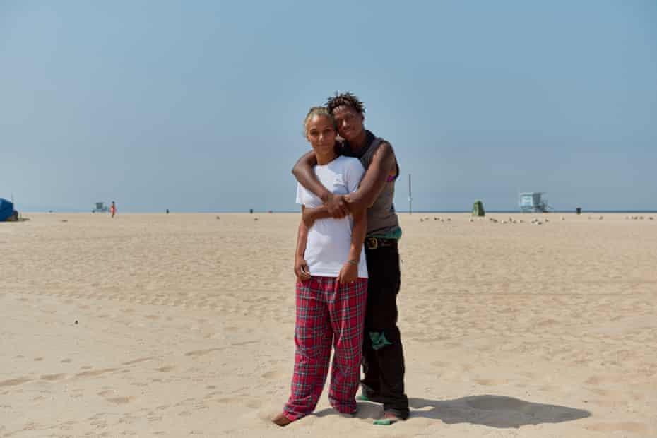 Dawn Little and Kia Little at Venice Beach.