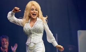 Dolly Parton performing at Glastonbury in 2014.
