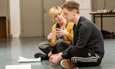 Julie Hesmondhalgh and Mike Noble in rehearsals for The Almighty Sometimes.