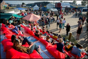 A summer festival at the NDSM wharf