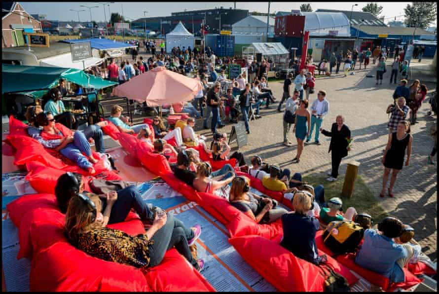 A summer festival at the NDSM wharf