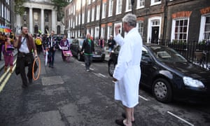 Lord Andrew Fraser confronts Extinction Rebellion protesters.