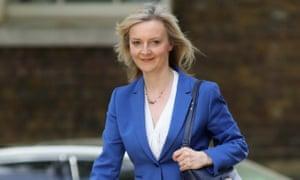 Liz Truss arrives at Downing Street.