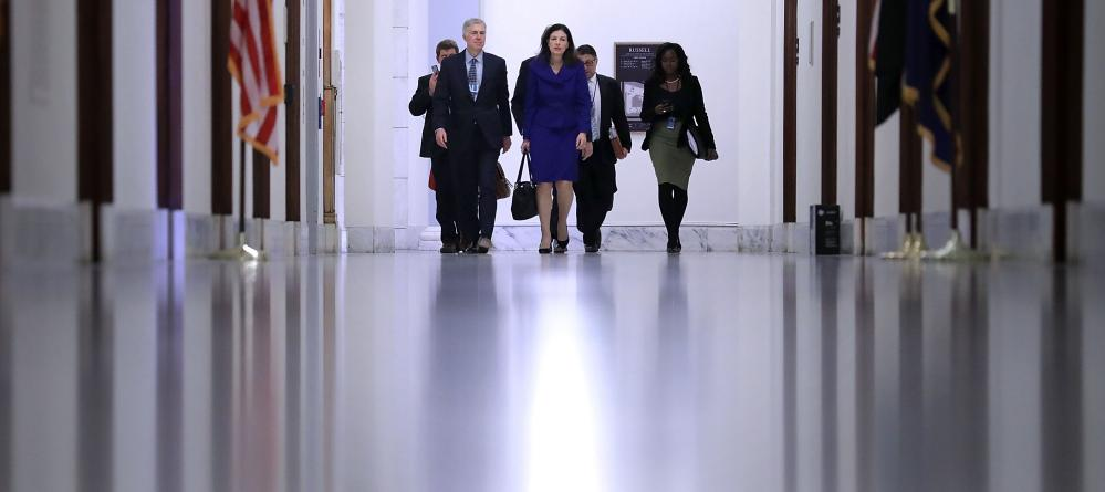 *** BESTPIX *** Trump's Supreme Court Nominee Neil Gorsuch Meets With Senators On Capitol Hill