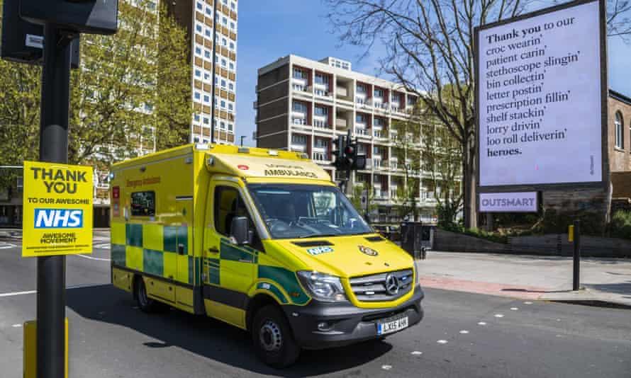 Coronavirus lockdown activity around St Thomas' hospital, London