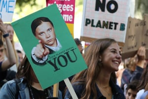 Greta Thunberg has become a poster child for the climate crisis at a strike in London.