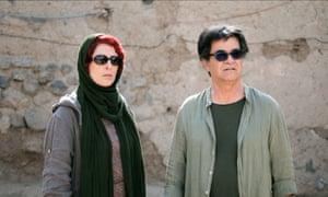 Behnaz Jafari with Jafar Panahi in his 3 Faces.