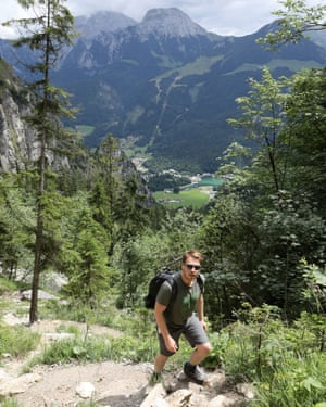 Conor hiking above Königssee