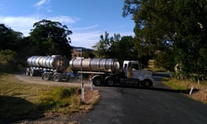 Water trucks in the Tweed Shire. Supplied by Tweed Water Alliance Facebook