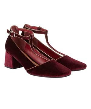 Velvet t-bar shoes, £18,tuclothing.sainsburys.co.uk