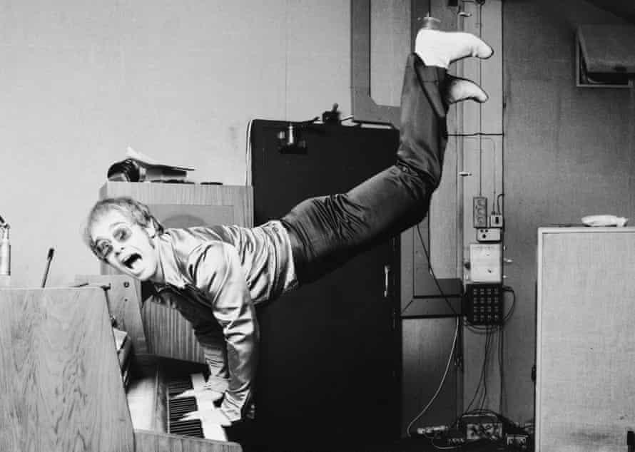 Elton John at his piano in 1972