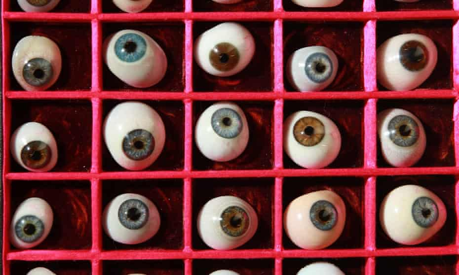 Hoffmann's Sandman collects and feeds eyes to his children ... a drawer of antique glass eyes at the Science Museum in London.