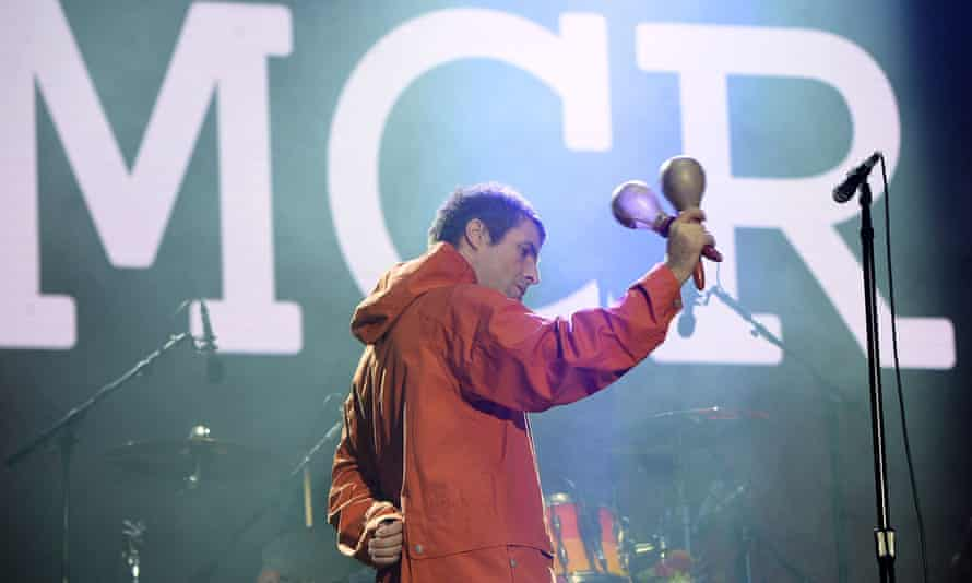 Liam Gallagher performing during the One Love Manchester concert at Old Trafford.