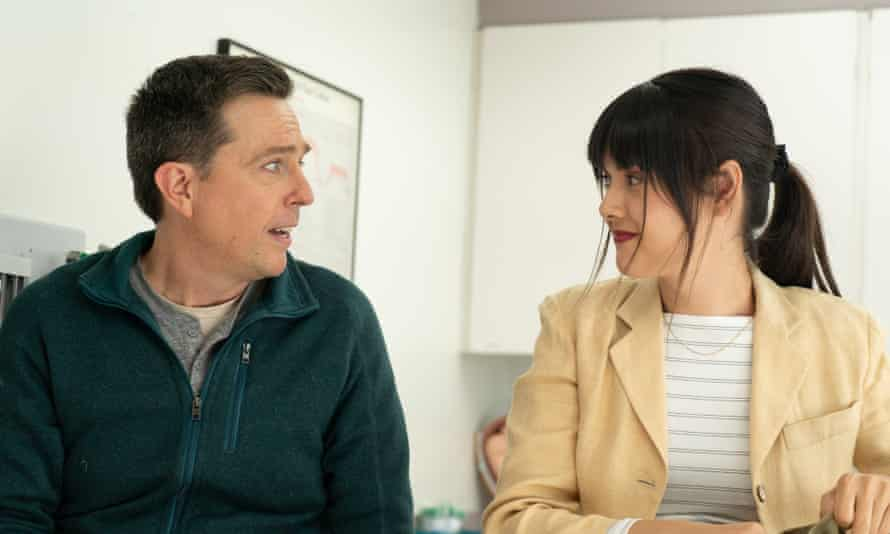 Ed Helms, left, and Patti Harrison in Together Together.