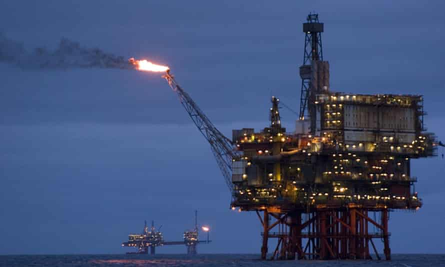 Beryl Bravo oil / gas production platform in the North Sea, 160 miles north east of Aberdeen, Scotland.