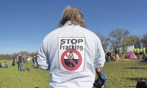 An anti-fracking campaigner in north-west England