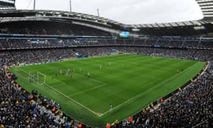 Tickets at Manchester City's Etihad Stadium have been increasing gradually.